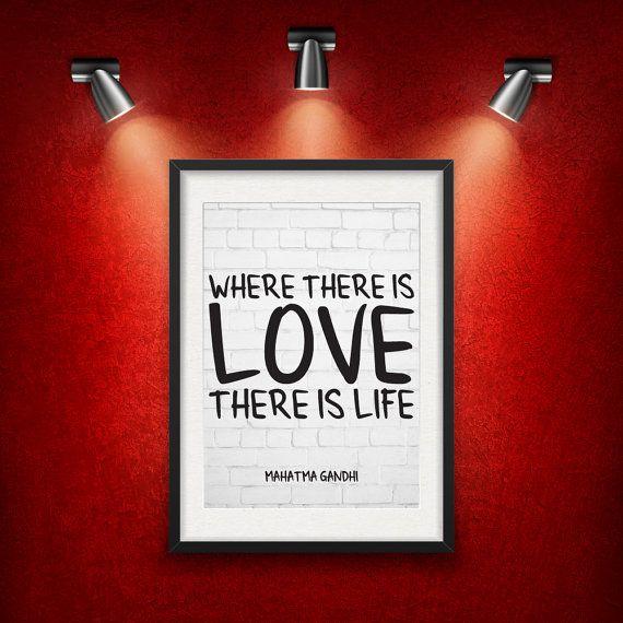 Mahatma Gandhi Love Quote DIGITAL DOWNLOAD от MotivationalThoughts
