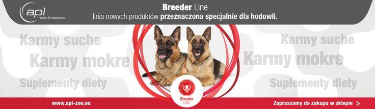 W APL właśnie ruszyliśmy z nową linią, stworzoną z myślą o hodowcach i ich psach. Teraz cała linia Breeder w niższych cenach. Promocja do końca czerwca. http://apl-zoo.eu/pl/c/LINIA-BREEDER/91