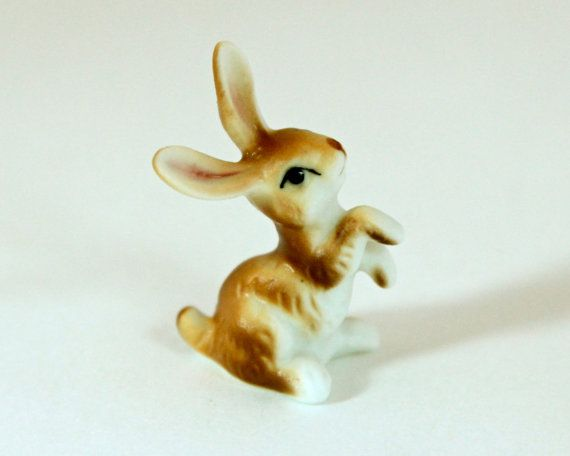 rabbit figurine from Vintage4Vintage on etsy.com - bunny, easter....so reminds me of Grandma Jane's figurines...i played with when i visited her