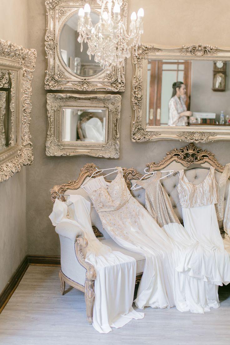 Memoire venue   rose gold bridesmaids dresses   wedding details   by Clareece Smit photography