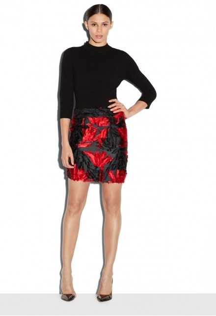 Exclusive Couture Floral Fil Coupe Modern Mini Skirt  Details: MILLY Exclusive fashioned in Italian fil coupe. Relaxed waist modern mini skirt with self waistband.