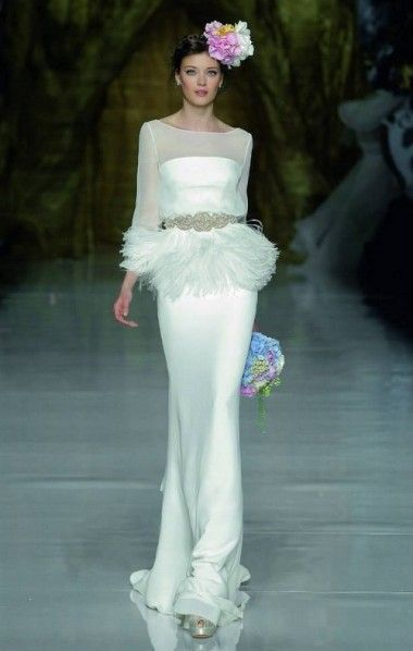 Pronovias Spring 2014 | Wedding Trend 2014: 12 Pretty Peplum Style Wedding Dresses | weddingsonline