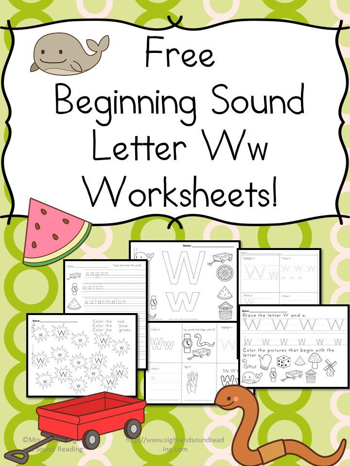 Beginning Letter Sound Worksheets -The Letter W