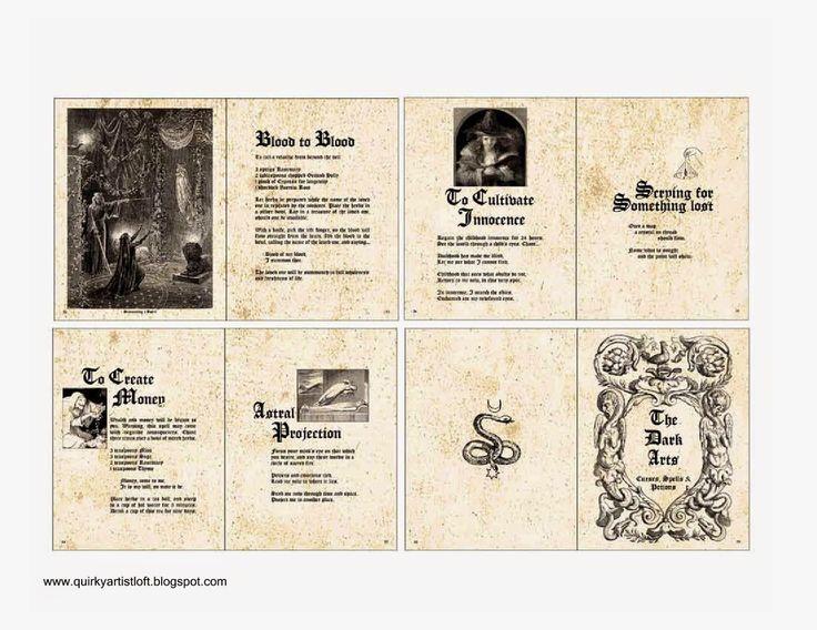 Halloween Book Cover Ideas ~ Best spell book printable ideas on pinterest harry