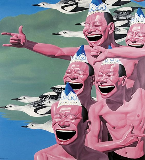 Link to YUE MINJUN – Art Democracy´s Chinese Week / YUE MINJUN is one of the most important Beijing-based artists of the Chinese avant garde. He is part of the key movement of the post-1989 era in Chinese avant garde art – Cynical Realism. Cynical Realism developed in the aftermath of the events of 1989. http://www.artdemocracy.net/es/2011/04/19/yue-minjun-art-democracy%C2%B4s-chinese-week/