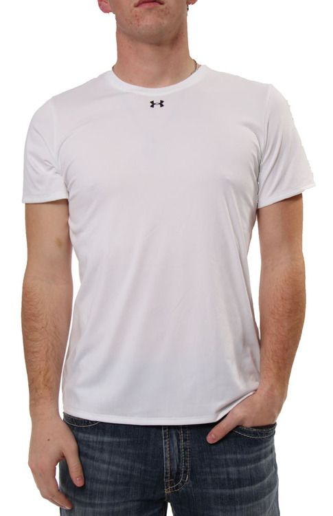 UA Locker SS Tee in White/Black by Under Armour, Inc