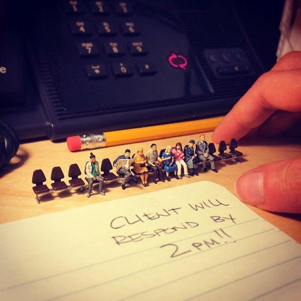 Divertidas fotografías en miniatura que retratan cómo es la vida en una agencia