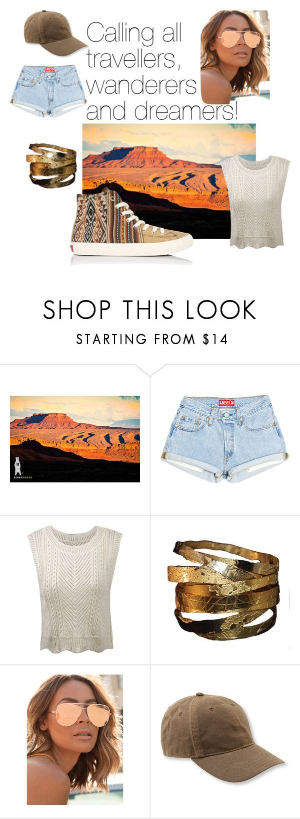 Desert Nomads by inkkasaustralia on Polyvore featuring Quay and L.L.Bean