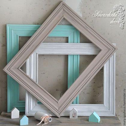 Wooden frames / Фоторамки ручной работы. Ярмарка Мастеров - ручная работа. Купить Фоторамки деревянные в стиле шебби шик. Handmade. Рамка, нежность