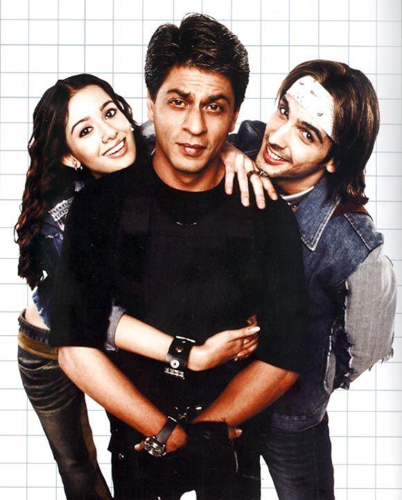Shahrukh Khan, Zayed Khan and Amrita Rao - Main Hoon Na (2004)