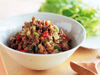ひき肉と納豆炒め