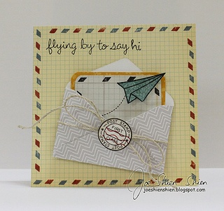 Lawn Fawn- You've Got Mail, Flying By, Bright Side paper