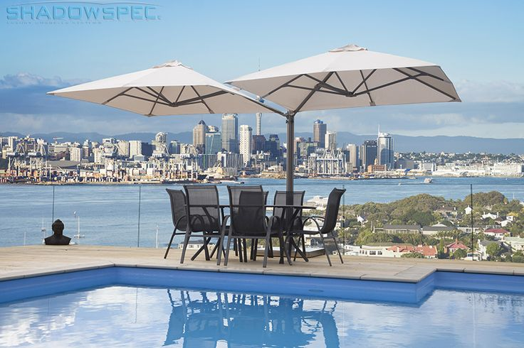 SHADOWSPEC - Global Suppliers of Luxury Outdoor Umbrella Systems. If you're planning on getting umbrellas for decks, search out a design that combines style and function. The SU6 Umbrella is able to mount up to 4 umbrellas off one mast, which allows for ample coverage. Complement the outdoor furniture on your deck or balcony by choosing from our large range of canopy colours. Click below for more information: www.shadowspec.com (USA) www.shadowspec.com.au (Australia) www.shadowspec.co.nz…