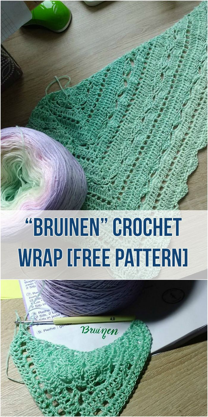 """Bruinen"" Wrap - Free Crochet Pattern Adorable crochet wrap free pattern #crochet #freepattern #style #fashioninspiration"