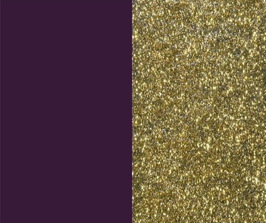 deep purple-plum and sparkle gold wedding colors