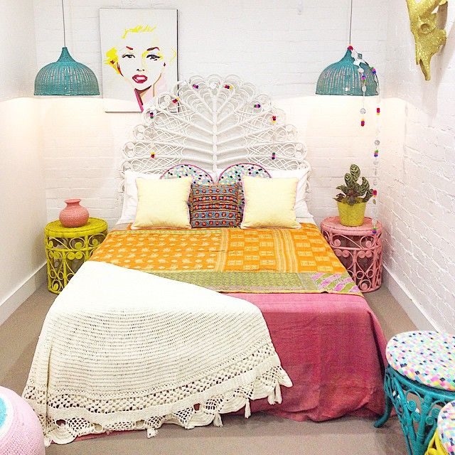 One of our more subdued bedrooms