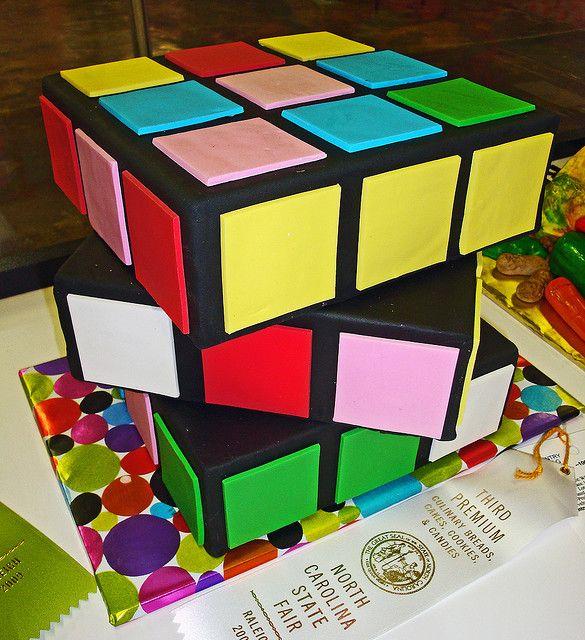 Rubiks Cube cake - cute idea!