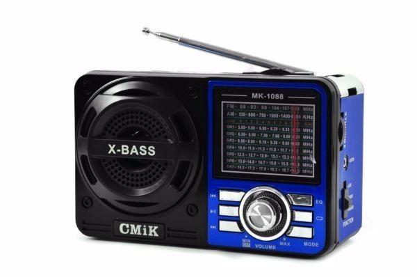 Radio Portatil Am/fm/sw2/usb X-bass Mk-1088...com 9 Bandas - R$ 94,99