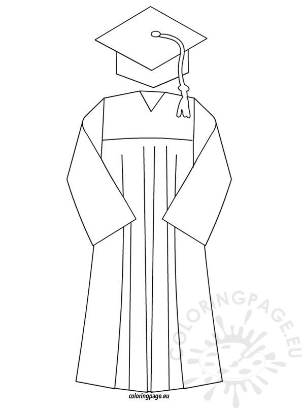 Graduation Coloring Page For Preschool And Kindergarten