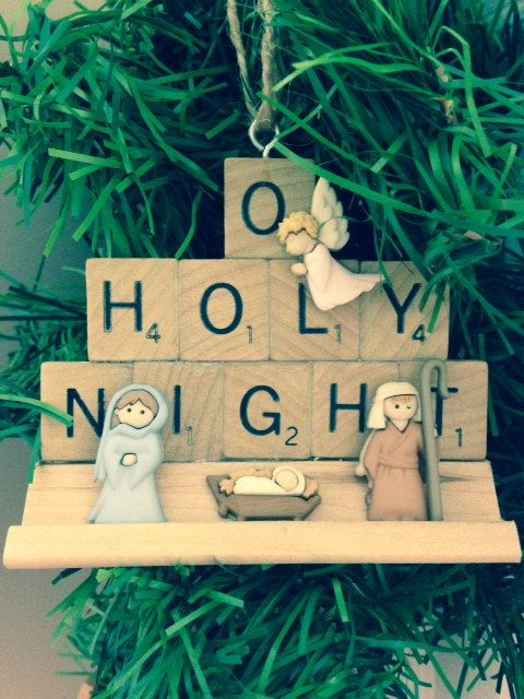 O Holy Night Nativity Scrabble Ornament by OneSweetSurprise