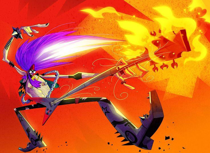 Character Design Challenge Patreon : Heavy metal character design challenge winner on behance