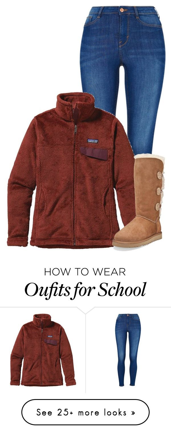 """{ugg}, I sure hate school"" by morgantaylor37 on Polyvore featuring Patagonia and UGG Australia"