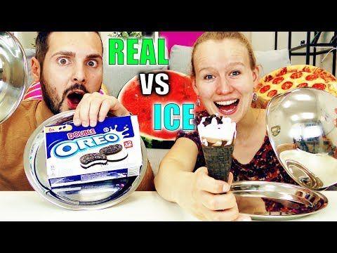 Real Food Vs Ice Food Challenge Kathi Vs Kaan Echtes Essen Gegen Eis Was Schmeckt Besser Youtube Gute Spiele Eis Filme Deutsch