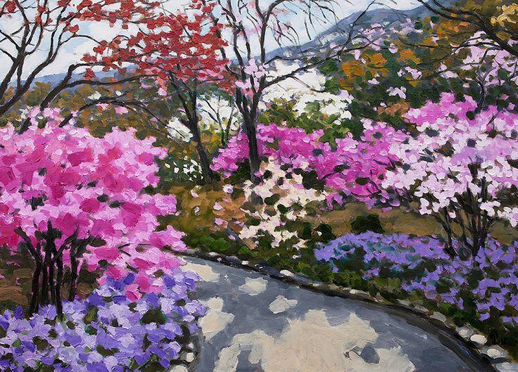 "Pham Luan - Hyakkaen Garden at Tenryu-ji, KyotoOil on Canvas - 110cm x 80cm Exhibition - ""Seasons of Japan"" ANA InterContinental Tokyo Nov. 10, 2016 - Feb. 5, 2017 InquiryPin it"