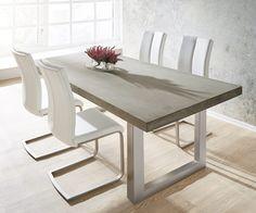 579 € - Esstisch Zement 200x100 Grau Beton Optik Gestell breit Möbel Tische Esstische