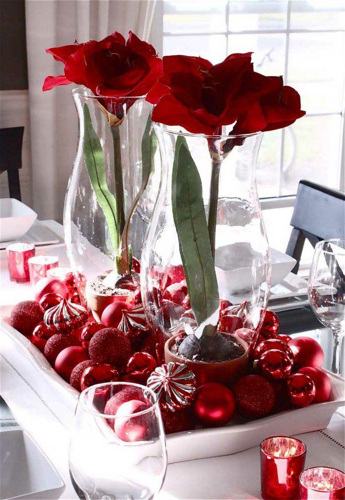 Weihnachtsdeko in Rot für eine romantische Feststimmung