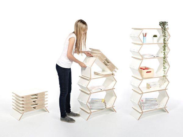 ตู้หนังสือไอเดียเก๋ ยืดหยุ่นพับได้
