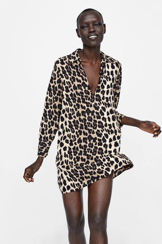 333ea94ca56 ZARA LEOPARD ANIMAL PRINT SHIRT DRESS 9878 176 SOLD OUT xS 6 8  fashion   clothes  shoes  accessories  womensclothing  dresses (ebay link)