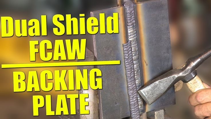 🔥 Dual Shield Flux Core Welding with Backing Plate
