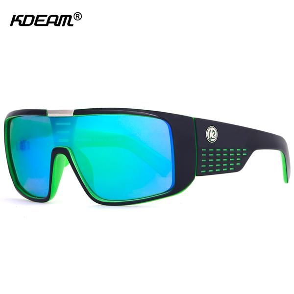 #BlackFriday is coming early #BestPrice #CyberMonday KDEAM Oversized Shield Dragon Sunglasses Men Single Lens Steampunk Goggles Surfing…