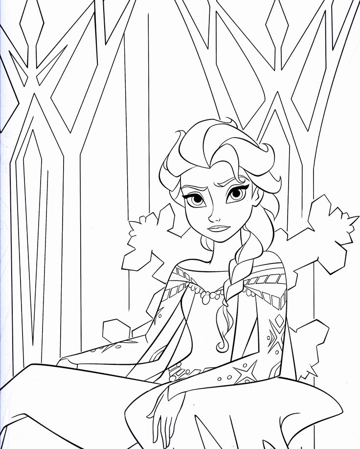 Disney Queen Coloring Pages : Queen elsa coloring pages and on pinterest