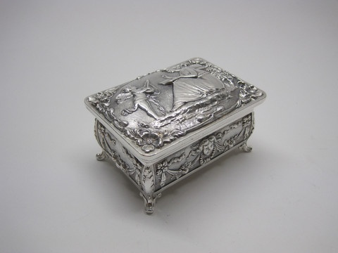 8 best Vintage Jewelry Boxes Antique Silver Plate images on