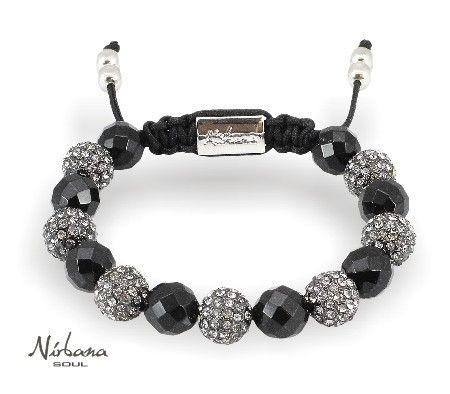Nirbana Soul - Mintaka - Faceted Onyx and crystal Shamballa bracelet