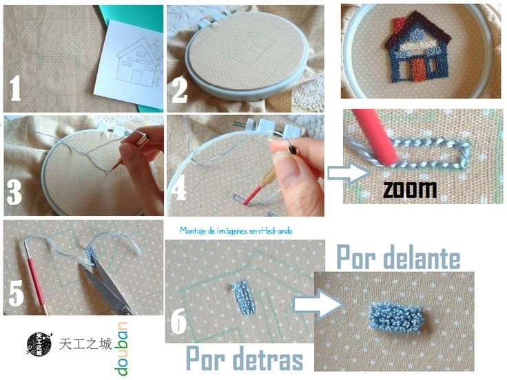 Como hacer Bordado Ruso o en Relieve.Tutoriales - enrHedando