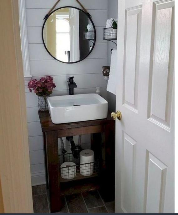 Rustic Custom Vanity Bathroom Powder Room Miller By Foo Foo La La