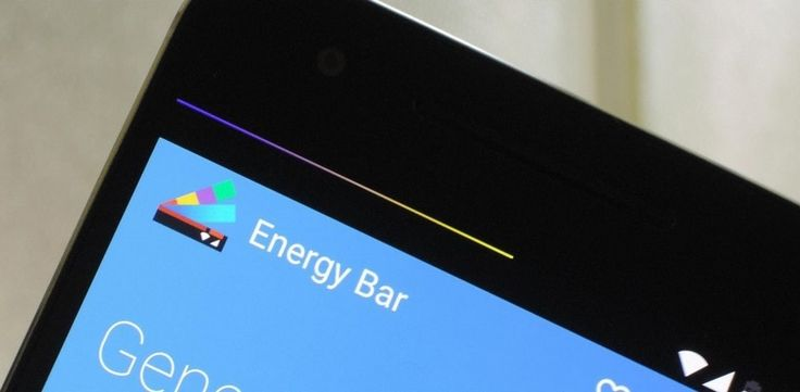 Add a stylish colorful battery indicator to any Android device with an app called Energy Bar. See the status of your battery in colors.