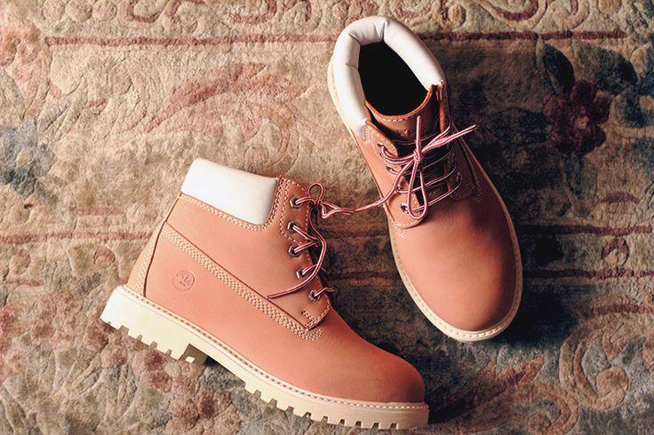 Uma alternativa para as botas amarelas Timberland: Lumberjack Pink Boots!