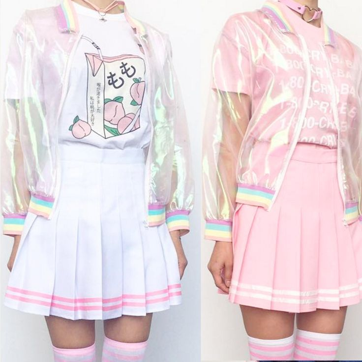 Kawaii koko pink tennis skirt with striped cute outfits