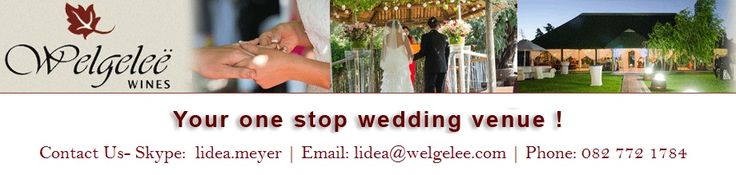 Your One Stop Wedding Venue. Get Affordable Wedding Venue Pricing; Check it out- http://welgelee.com/weddings/prices.html