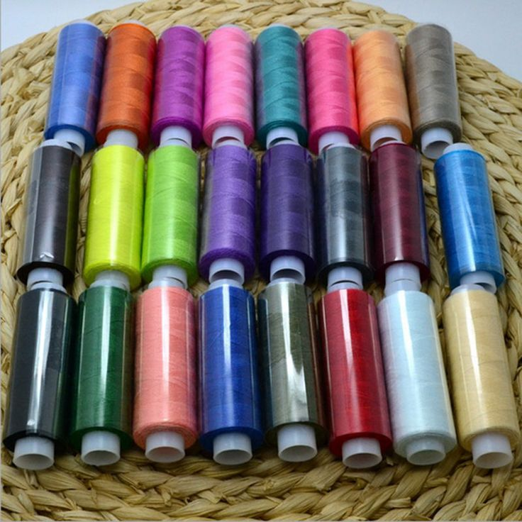 24stk Nähgarn Set  Nähmaschinengarn Garn für Hand & Nähmaschine polyester