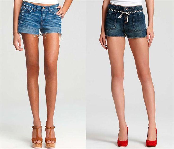 Последняя мода на джинсовые шорты