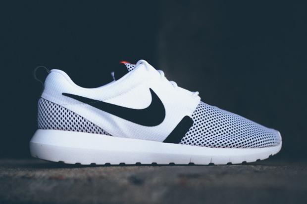Beliebte Am Besten Nike Roshe Run NM Männliche Schuhe Weiß Schwarz BR, Nike Roshe Schwarz Billig Kaufen