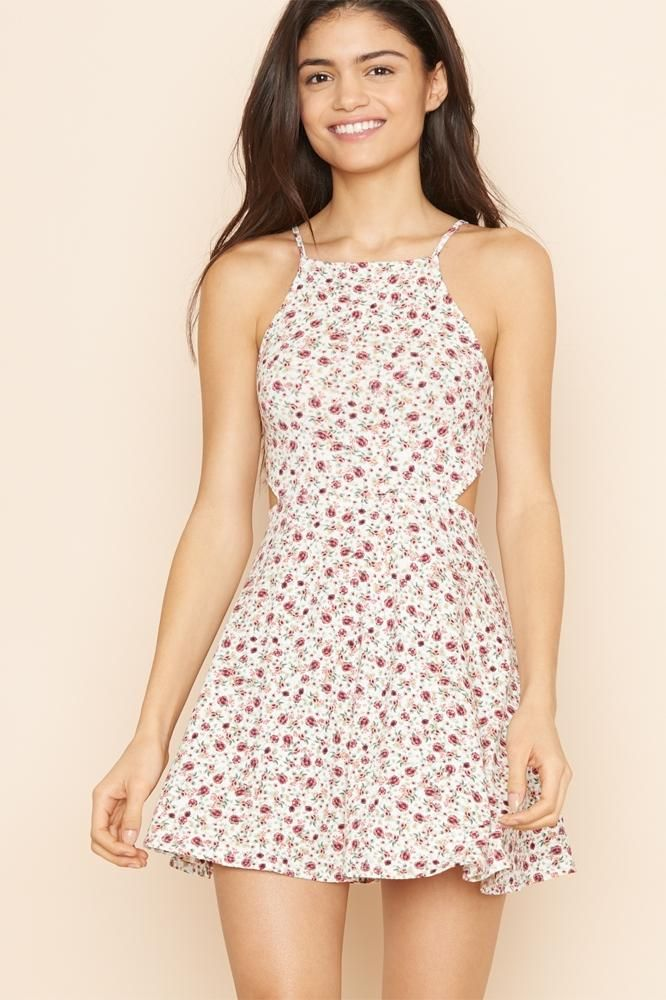 High Neck Dress With Cutouts