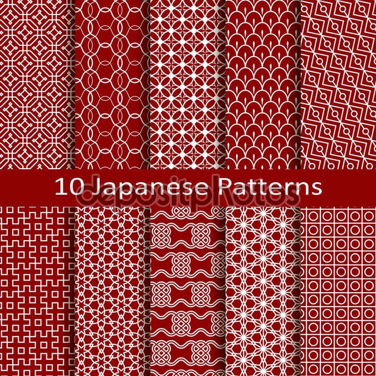 набор из десяти японских моделей - Стоковая иллюстрация: 57841651