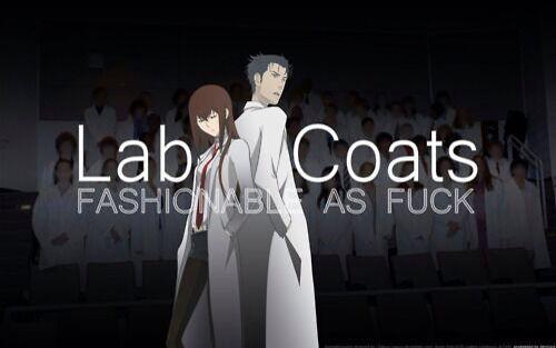J'ai économisé pour ma propre blouse de laboratoire, même si je pouvais demander à ma mère …   – Just lols~ Anime