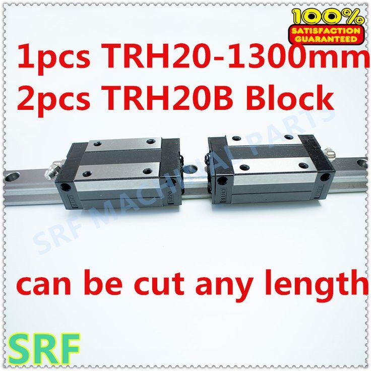 High quality 1pcs Linear guide 20mm TRH20  L=1300mm Linear Rail+2pcs TRH20B linear carriage block for  CNC X Y Z  Axis #Affiliate